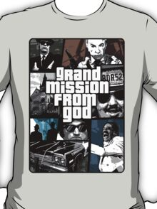 Blues Brothers vs Grand Theft Auto Spoof T-Shirt