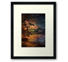 Magic of Japanese gardens. Framed Print