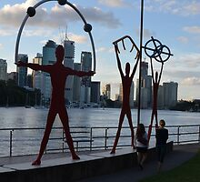 Riverside scluptures in Brisbane by Ian McKenzie