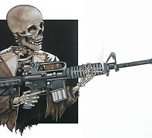 AR-15 Skeleton, Painting by Shane Highfill