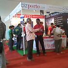 bizporto team personally attending to all visitors at the booth at Global Maharashtra Conference and Trade Fair by bizporto