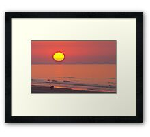 SUNRISE - START OF A BEAUTIFUL DAY Framed Print