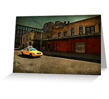 Meat Packing Taxi Greeting Card