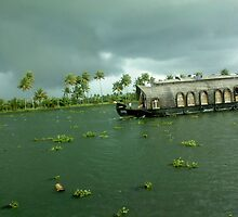 the glorious houseboats of allepey by NivinJS