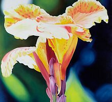 Tigerlily - oil painting of a vibrant lily by James  Knowles