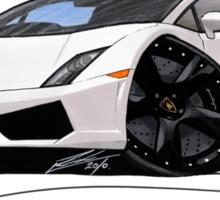 Lamborghini LP560/4 Pearl White [BLK] Sticker