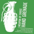 'Weapon of Choice - Hand Grenade' - White Logo by Loftworks