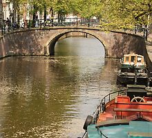 Canal View In Amsterdam by sceneryphotosto