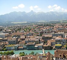 Red Tile Roofs - Thun, CH by Danielle Ducrest