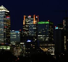 Canary Wharf by Night by James1980