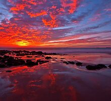 """Fiery Sunset"" by Heather Thorning"