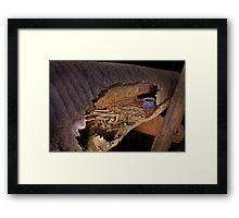 "Prehistoric log coffin in ""Skull Cave"", Thailand Framed Print"