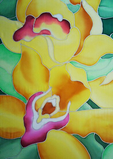 Spring Orchids - detail by Angel Ray