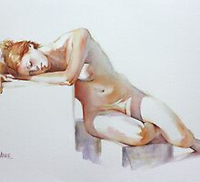A Resting Figure by Pauline Adair
