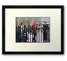 PRINCE WILLIAM AND CATHERINE MIDDLETON  Framed Print
