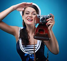 """Pose just like this"" Pin-up Girl by Laura Balc Photography"