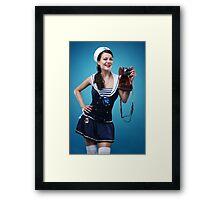 """""""Smile"""" Pin-up girl  Framed Print"""
