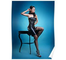 Leather Pin-up Girl  Poster