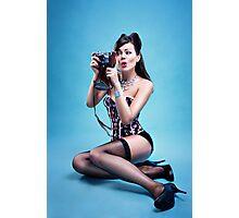 """""""Freeze"""" Pin up Girl  Photographic Print"""