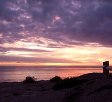 Sunset at Clan Ranald Memorial, York Peninsula, Suth Australia by burrster
