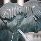 fountain detail, trafalgar square by richard  webb