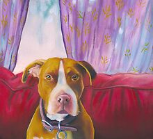 Favorite Pit Bull & Favorite Pillow by Acey Thompson