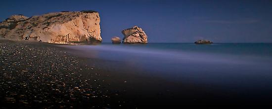 After Dark On Aphrodite's Rock by Aj Finan