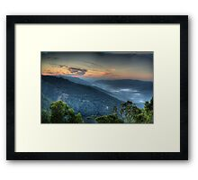 Merlin's Vision - Merlin's Lookout , Hill End NSW Australia - The HDR Experience Framed Print