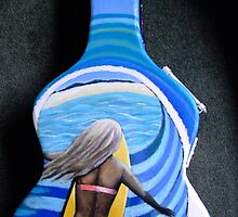 Ode to the surf artists Side 2 by Fiona Hollis