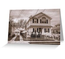 House and Driveway B&W Greeting Card