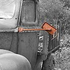 Rear View - Mirror on 1942 Ford by Betty Northcutt