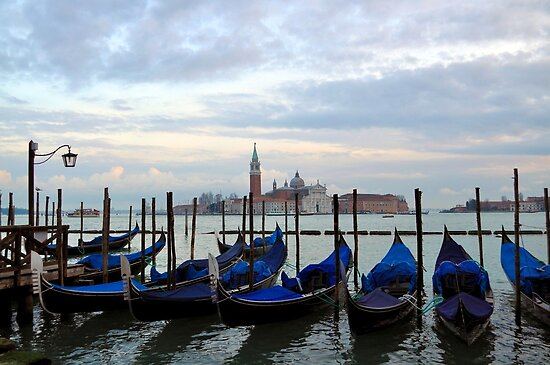 Gondolas at Dusk by Tiffany Dryburgh