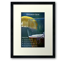 Optimist Quiz Framed Print