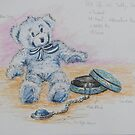 Teddy with Jewellery Box and Pendant by Geraldine M Leahy