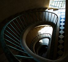 Interior spiral staircase, Palace of Versailles by Aleksandar Topalovic