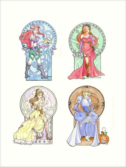 Steampunk Ladies of Disney by Karen  Hallion