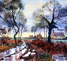 A Wet Roadside by Glenn Marshall