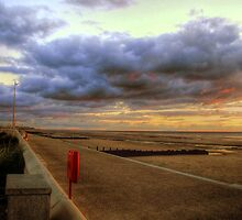Cleveleys Prom at Dusk by Victoria limerick