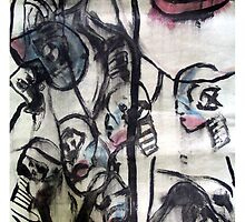 Test Model, 1997, Acrylic & Ink on Paper, Justin Curfman by Tephramedia
