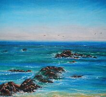 Heisler Beach Rocks: Plein Air by E.E. Jacks
