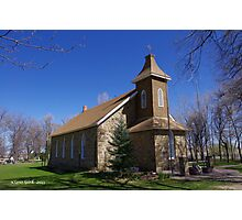 Historic Swedish Church in Boulder County near Longmont Photographic Print