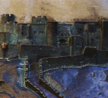 Carcassonne in Bronze by Marilyn Harris