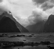 Dark at Milford Sound by Ian Fegent