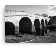 Oldest bridge in Australia-built 1823 - Tasmania  -  B&W Canvas Print