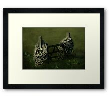 Please shut the Gate Framed Print