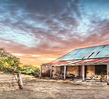 Ruin Of Sunrise Panorama by Shannon Rogers