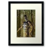 Tiger Warrior Framed Print