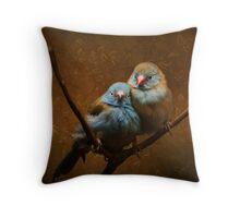 Male and Female Cordon Bleus Throw Pillow