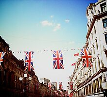 Bunting - Regent Street, London by Lisa Hafey