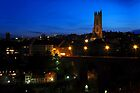Fribourg by night by Rosy Kueng